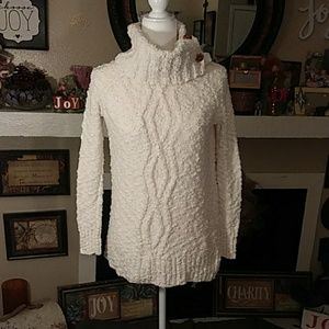 Anthropologie Moth off-white chunky sweater